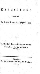 Kanzelrede am letzten Tage des Jahres 1817