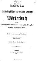 Englisch Deutsches und Deutsch Englisches W  rterbuch mit einer tabellarischen Uebersicht der von den neueren englischen Ortho  pisten verschieden ausgesprochenen W  rter PDF
