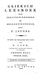 Grieksch leesboek voor eerstbeginnenden en meergevorderden: Volume 2