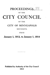 Proceedings of the City Council of the City of Minneapolis: Volume 39