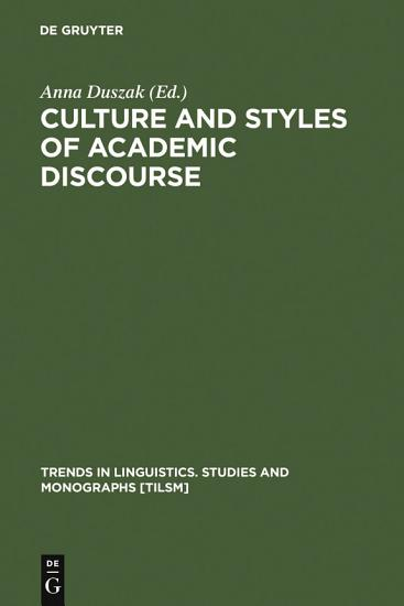 Culture and Styles of Academic Discourse PDF