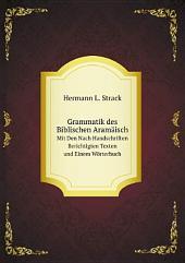 Grammatik des Biblischen Aram?isch