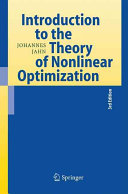 Introduction to the Theory of Nonlinear Optimization PDF