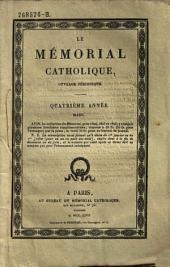 Le Memorial catholique, ouvrage periodique: Volumes3à4;Volume7