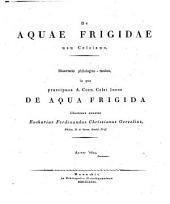 De aquae frigidae usu Celsiano: Diss. philol. med
