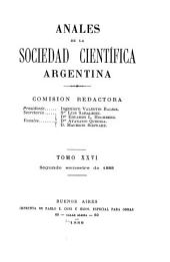 Anales de la Sociedad Científica Argentina: Volumen 26