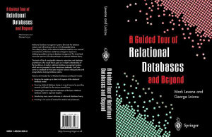 A Guided Tour of Relational Databases and Beyond PDF