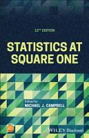 Statistics at Square One PDF