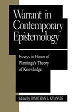 Warrant in Contemporary Epistemology