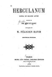 Herculanum: opéra en quatre actes