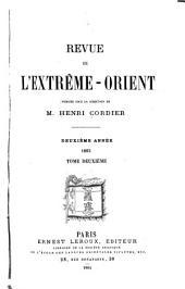 Revue de l'Extrême-Orient: Volume2