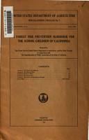 A Forest Fire Prevention Handbook for the School Children of California PDF