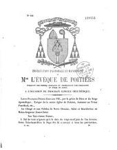 Instruction pastorale et mandement ... indiquant des prières publiques et promulguant une indulgence en forme de jubilé à l'occasion du prochain concile oecuménique