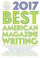 The Best American Magazine Writing 2017 PDF