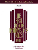 The First Book of Baritone/Bass Solos
