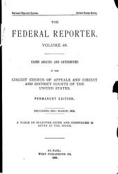 The Federal Reporter: Volume 48