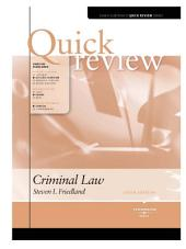 Friedland's Sum and Substance Quick Review on Criminal Law, 5th: Edition 5