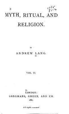 Myth  Ritual and Religion PDF