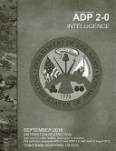 Army Doctrine Publication Adp 2 0 Intelligence September 2018 PDF