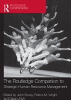 The Routledge Companion to Strategic Human Resource Management PDF