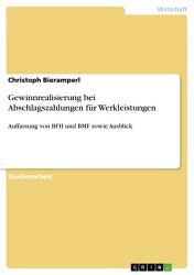 Gewinnrealisierung bei Abschlagszahlungen f  r Werkleistungen PDF