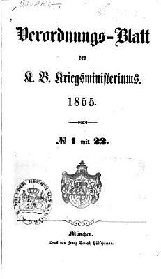 Verordnungsblatt des K  niglich Bayerischen Kriegsministeriums PDF