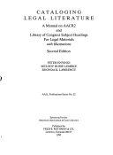 Cataloging Legal Literature PDF