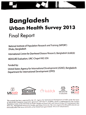 Bangladesh Urban Health Survey  2013