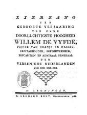 Lierzang ter geboorte verjaaring van [...] Willem de Vyfde