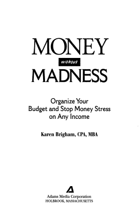 Money Without Madness PDF