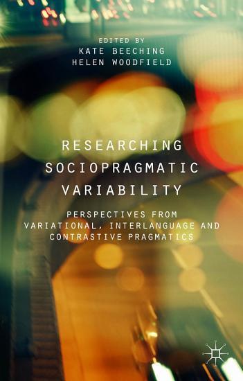 Researching Sociopragmatic Variability PDF