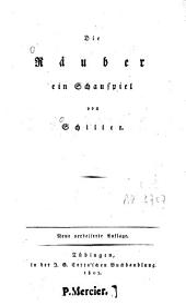 Die Raeuber: ein Schauspiel