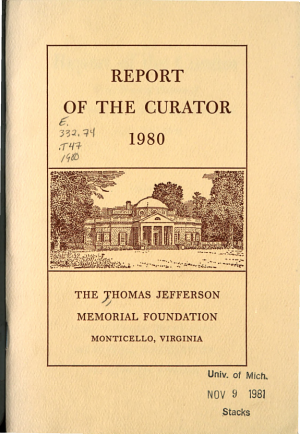 Report of the Curator