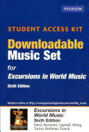 Excursions in World Music Downloadable Music Set Access Card Book
