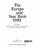 The Europa World Year Book, 1991
