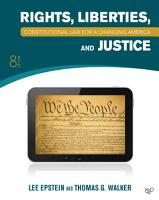 Constitutional Law  Rights  Liberties and Justice 8th Edition PDF