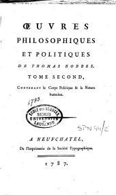 Oeuvres philosophiques et politiques: Volume2