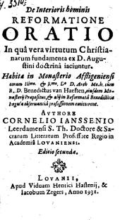 De interioris hominis reformatione oratio