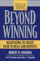 Beyond Winning PDF