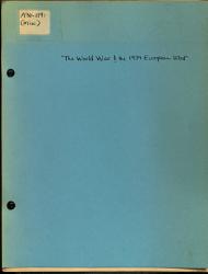 The World War And The 1939 European War Book PDF