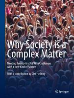 Why Society is a Complex Matter PDF