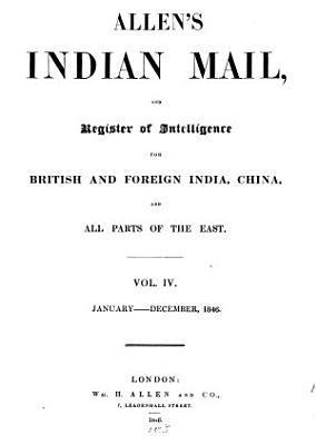 Allen s Indian mail and register of intelligence for British and foreign India PDF