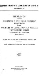 Establishment of a Commission on Ethics in Government PDF
