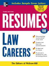 Resumes for Law Careers: Edition 3