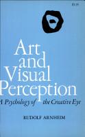 Art and Visual Perception PDF