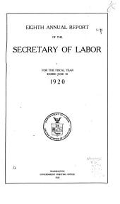 Annual Report of the Secretary of Labor