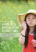 Understanding Applied Behavior Analysis  Second Edition PDF