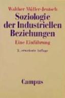 Soziologie der industriellen Beziehungen PDF