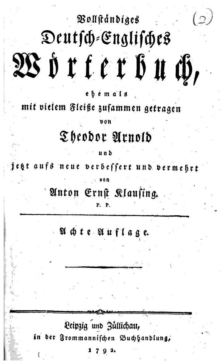 Vollständiges deutsch-englisches Wörterbuch