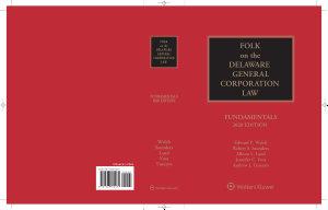 Folk on the Delaware General Corporation Law PDF